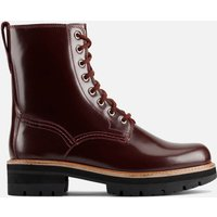 Clarks Women's Orianna Hi Leather Lace Up Boots - Merlot - UK 4