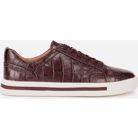 Clarks Women's Un Maui Lace Leather Low Top Trainers - Burgundy - UK 3