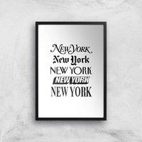 The Motivated Type New York New York Giclee Art Print - A3 - Black Frame