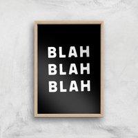 The Motivated Type Blah Blah Blah Block Giclee Art Print - A2 - Wooden Frame