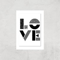 The Motivated Type Love Stencil Giclee Art Print - A3 - Print Only