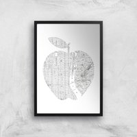 The Motivated Type New York Big Apple Giclee Art Print - A3 - Black Frame