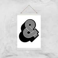 The Motivated Type Ampersand Giclee Art Print - A3 - White Hanger
