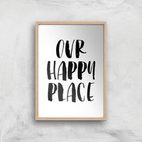 The Motivated Type Our Happy Place Giclee Art Print - A3 - Wooden Frame