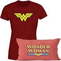Wonder Woman T-Shirt And Cushion Bundle - Kids' - 7-8 Years