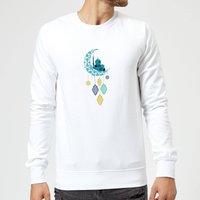 Eid Mubarak Moon Charm Sweatshirt - White - S - White