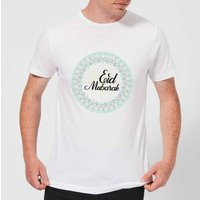 Eid Mubarak Light Tone Mandala Men's T-Shirt - White - XXL - White