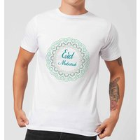 Eid Mubarak Rainbow Mandala Men's T-Shirt - White - XXL - White