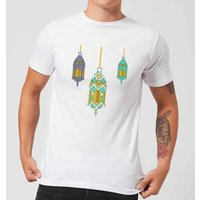 Eid Mubarak Lamps Men's T-Shirt - White - S - White