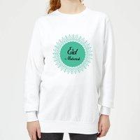 Eid Mubarak Earth Tone Wreath Women's Sweatshirt - White - M - White
