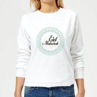 Eid Mubarak Light Tone Mandala Women's Sweatshirt - White - M - White