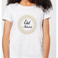 Eid Mubarak Golden Mandala Women's T-Shirt - White - S - White