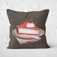 'Food For The Brainy Square Cushion - 40x40cm - Soft Touch