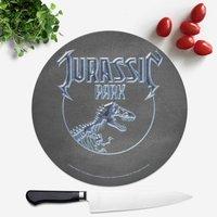 Tabla de cortar redonda Jurassic Park Logo
