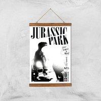 Póster Art Giclée Jurassic Park Life Finds A Way - A3 - Wooden Hanger