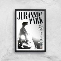 Póster Art Giclée Jurassic Park Life Finds A Way - A3 - Black Frame