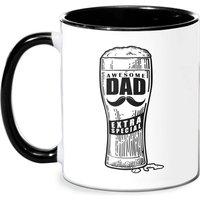 Awesome Dad Beer Glass Mug - White/Black