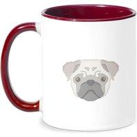 Bah Humpug Mug - White/Burgundy