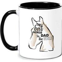 Horse Dad Mug - White/Black
