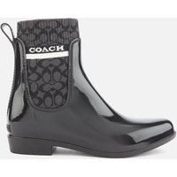 Coach Women's Rivington Signature Knit Rain Boots - Black - UK 5