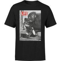 LIFE Magazine Monkey And Cat Men's T-Shirt - Black - XS - Black