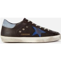 Golden Goose Deluxe Brand Women's Superstar Net/Leather Trainers - Black/Bluette/Powder - UK 7