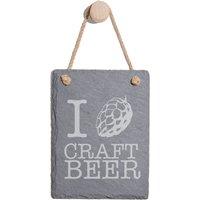 Craft Beer Engraved Slate Memo Board - Portrait