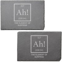 Ah! Engraved Slate Placemat - Set of 2