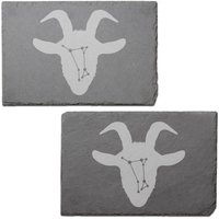 Aries Engraved Slate Placemat - Set of 2