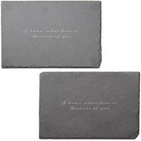 I Know What Love Is Engraved Slate Placemat - Set of 2