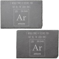 Science Pun Engraved Slate Placemat - Set of 2
