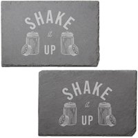 Shake It Up Engraved Slate Placemat - Set of 2