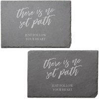 There Is No Set Path Engraved Slate Placemat - Set of 2