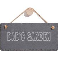 Dad's Garden Engraved Slate Hanging Sign
