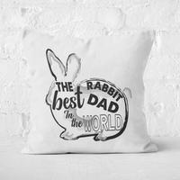 Rabbit Dad Square Cushion - 60x60cm - Soft Touch