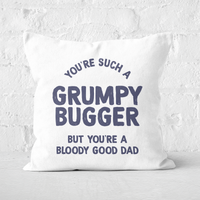 You're Such A Grumpy Bugger Square Cushion - 50x50cm - Soft Touch