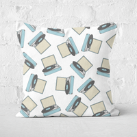 Record Player Square Cushion - 50x50cm - Soft Touch