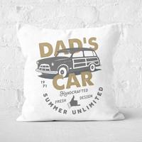Dad's Car Square Cushion - 50x50cm - Soft Touch