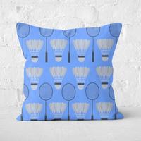 Badminton Square Cushion - 50x50cm - Soft Touch