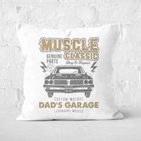 Dad's Garage Square Cushion - 50x50cm - Soft Touch