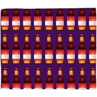 Beer Bottle Fleece Blanket