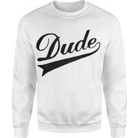 Dude Sweatshirt - White - XXL - White
