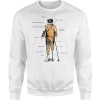 Astronaut Sweatshirt - White - M - White