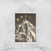 Moon Phases Giclee Art Print - A3 - White Hanger