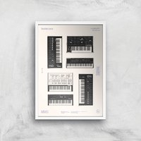 Synthesisers Giclee Art Print - A3 - White Frame