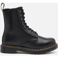 Dr. Martens Women's 1460 Serena Fur Lined Leather 8-Eye Boots - Dark Grey - UK 6