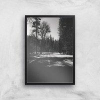 Yosemite Shadows Giclee Art Print - A3 - Black Frame