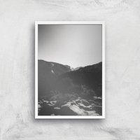 Simplistic Yosemite Giclee Art Print - A2 - White Frame