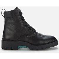 Coach Men's Citysole Pebbled Leather Lace Up Boots - Black - UK 10