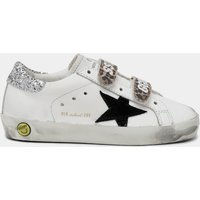 Golden Goose Deluxe Brand Toddlers' Old School Trainers - White/Black/Leopard - UK 3 Infant